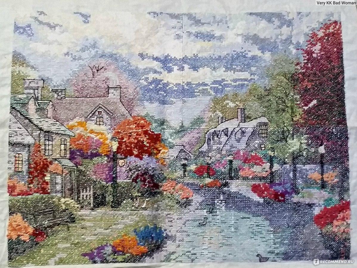 схемы вышивок по картинам с домами кинкейд