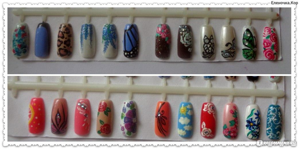 Краски для рисунков на гелевых ногтях