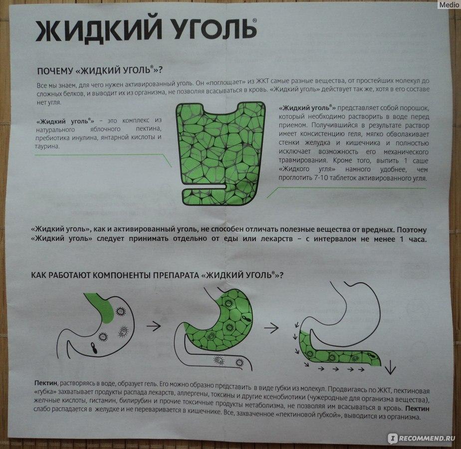 жидкий активированный уголь инструкция - фото 11