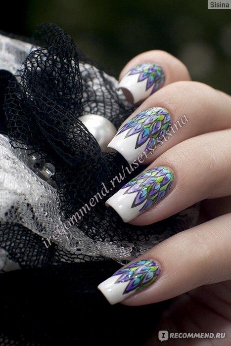 Дизайн ногтей обычным лаком в домашних условиях 182