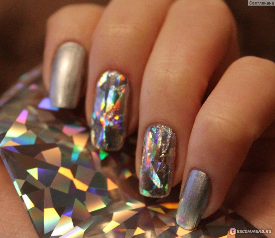 Голографический дизайн ногтей