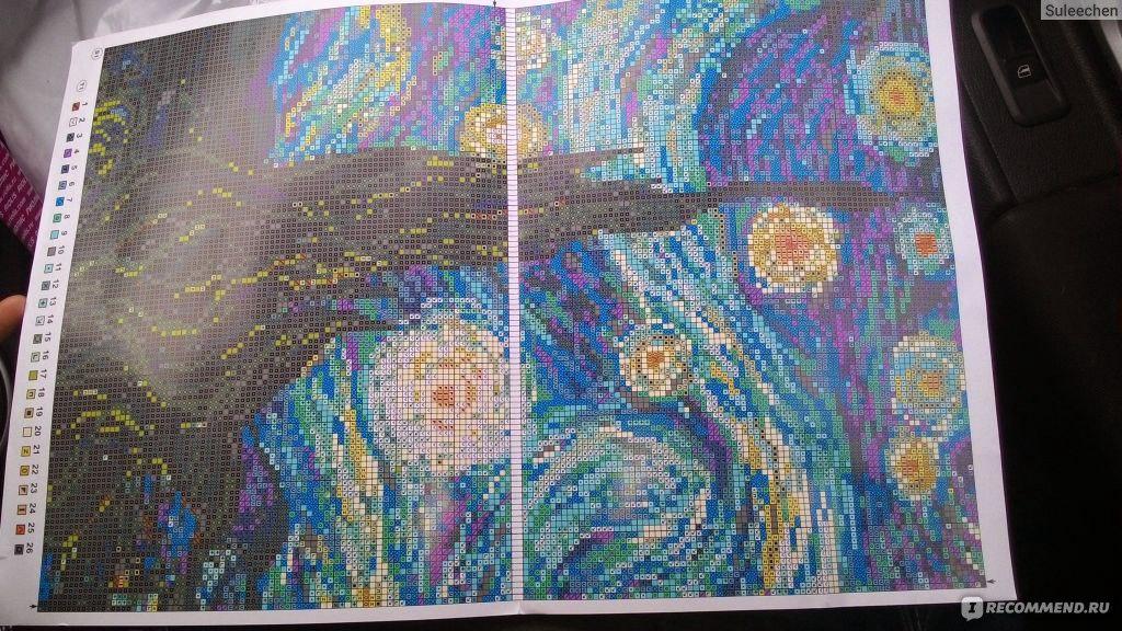 Ван гог звёздная ночь вышивка крестом 646