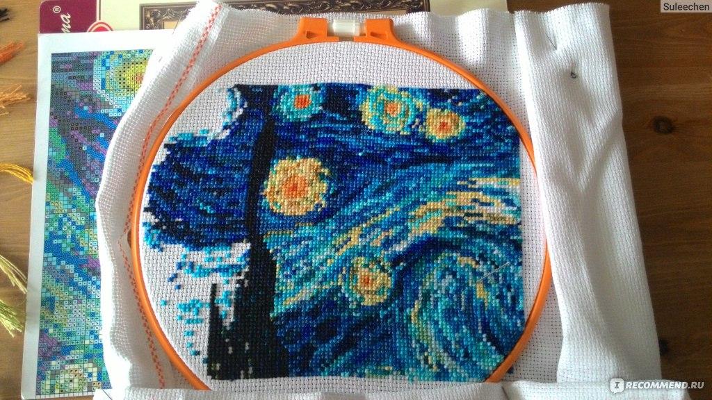 Ван гог звёздная ночь вышивка крестом 186