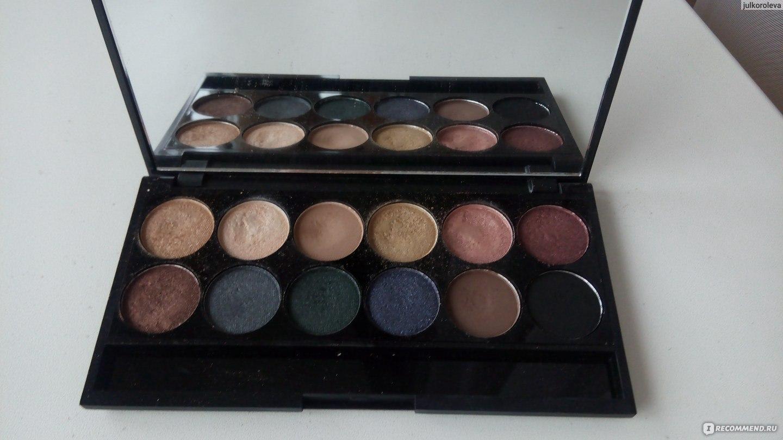 Палетка теней примеры макияжа