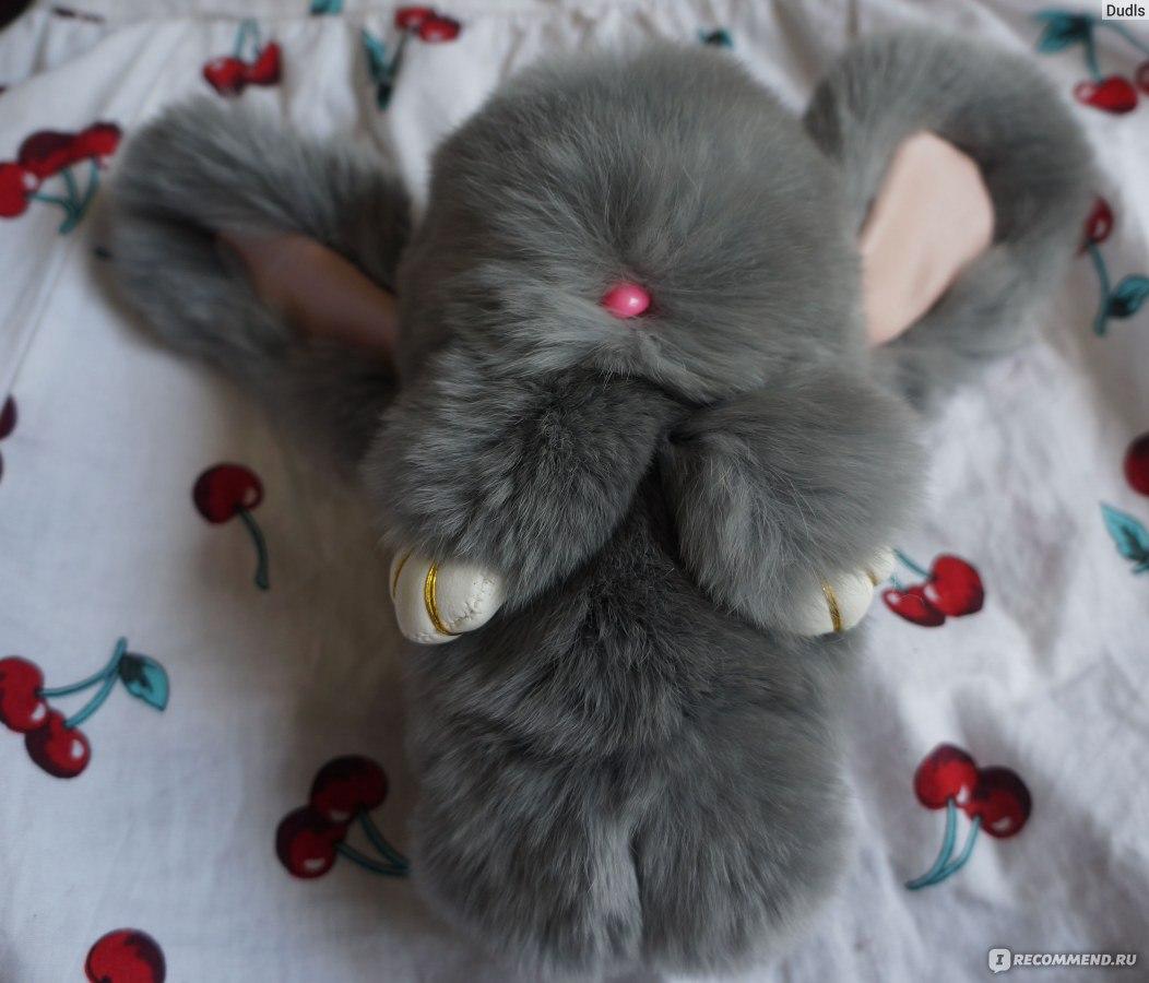 Зайчик из меха кролика своими руками 47
