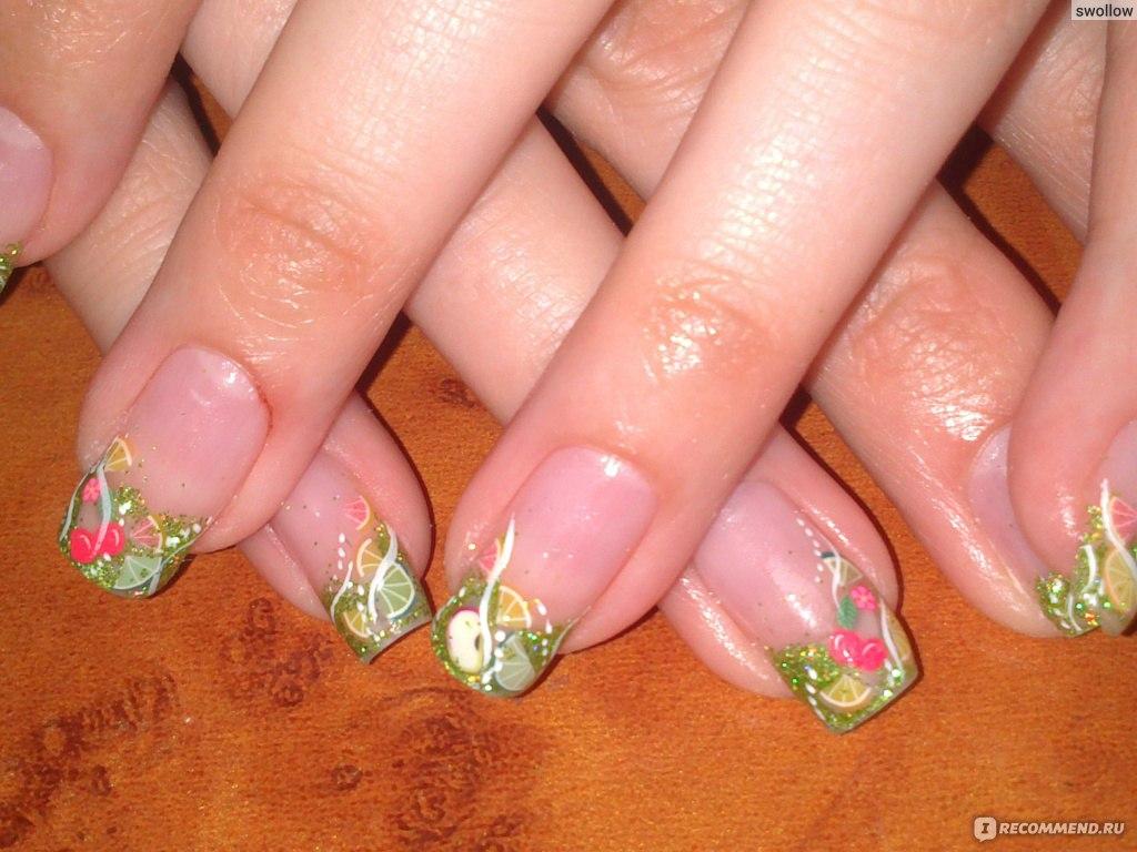 Нарощенные ногти фимо 5