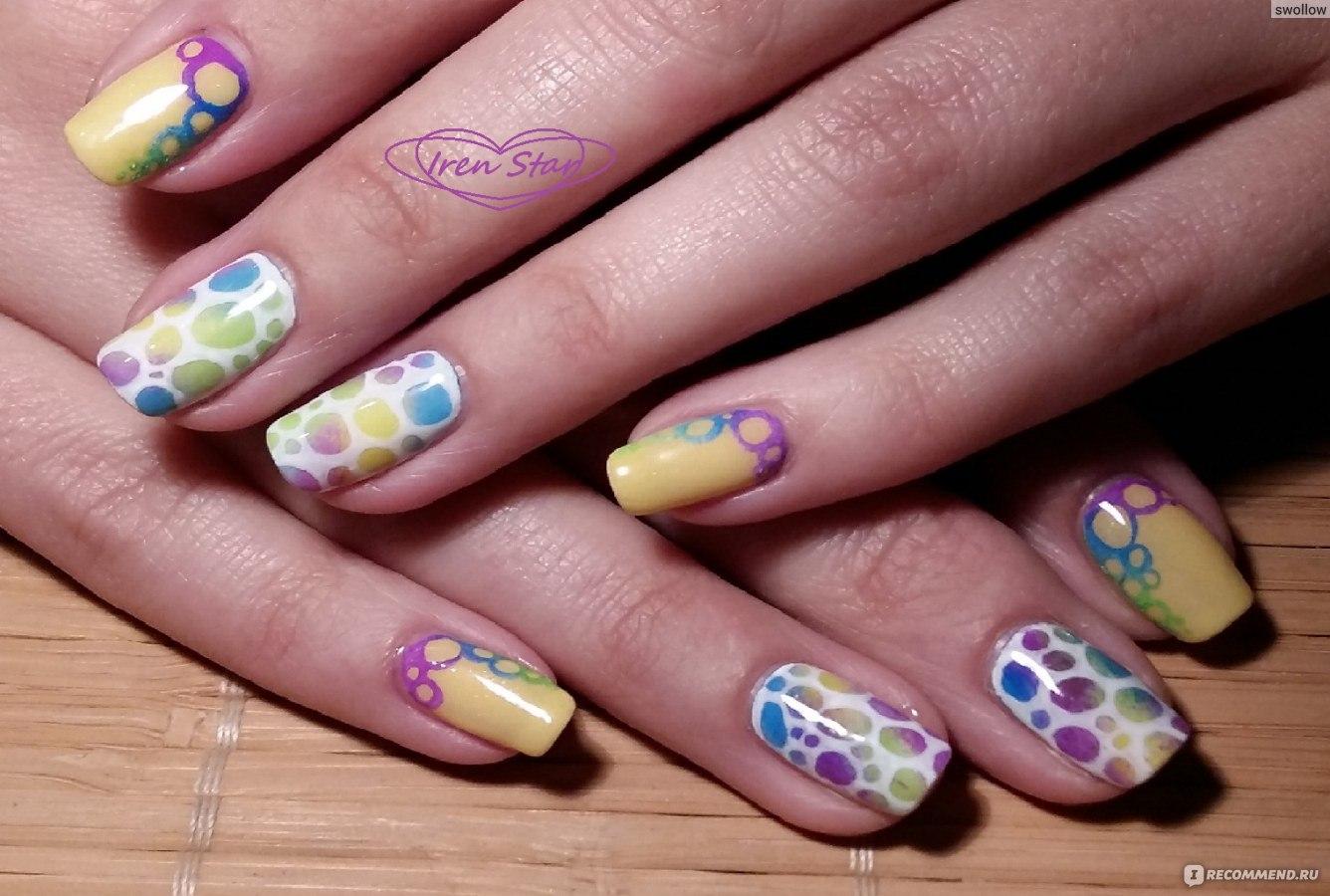 Дизайн ногтей с пигментами фото