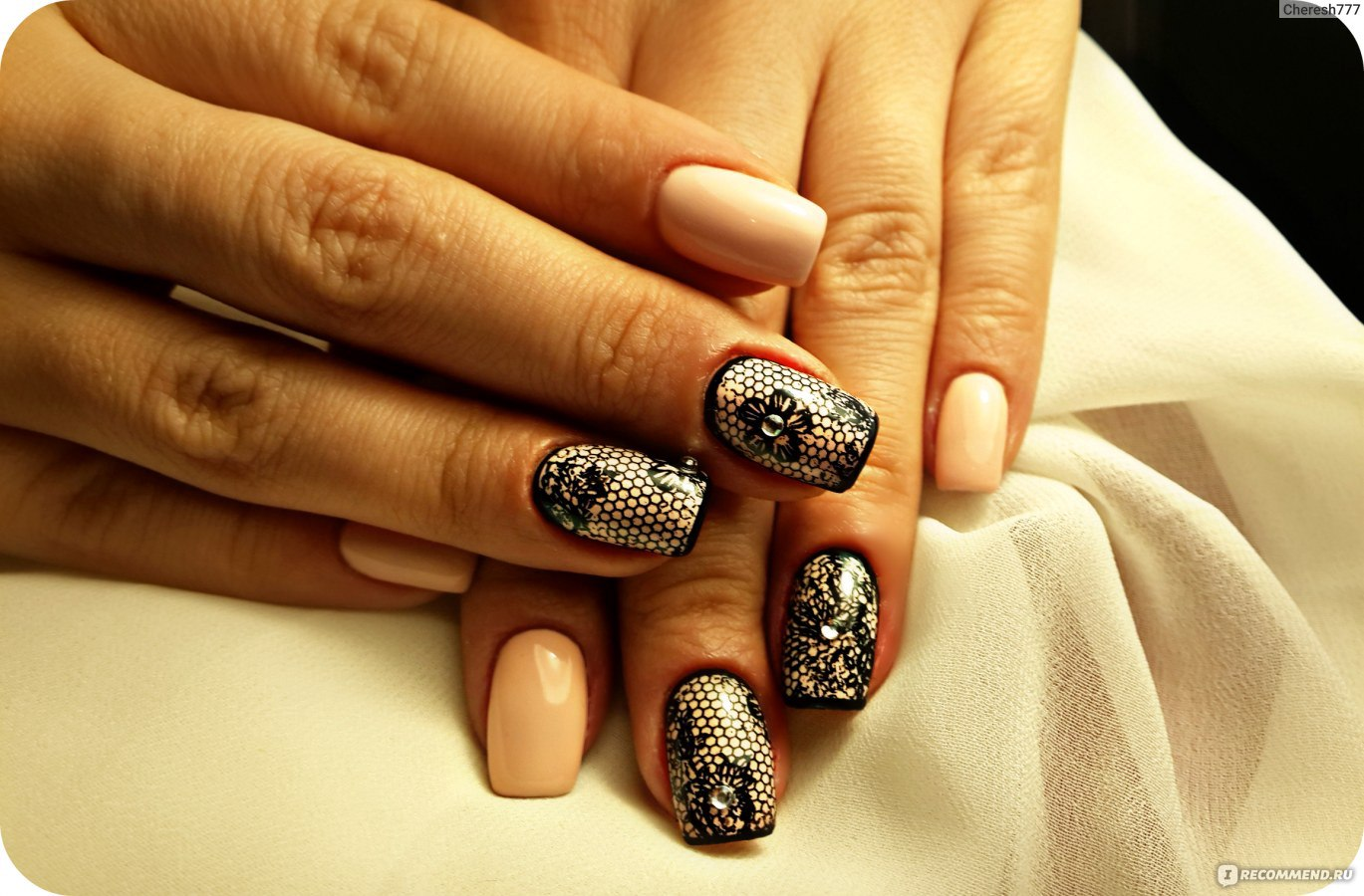 Чёрные ногти гель фото
