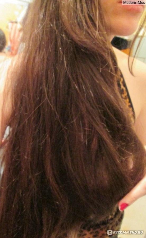 мне волосы на кончиках,