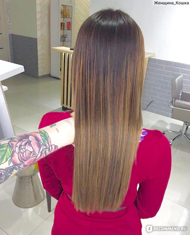 Чем и как осветлить кончики волос в  854