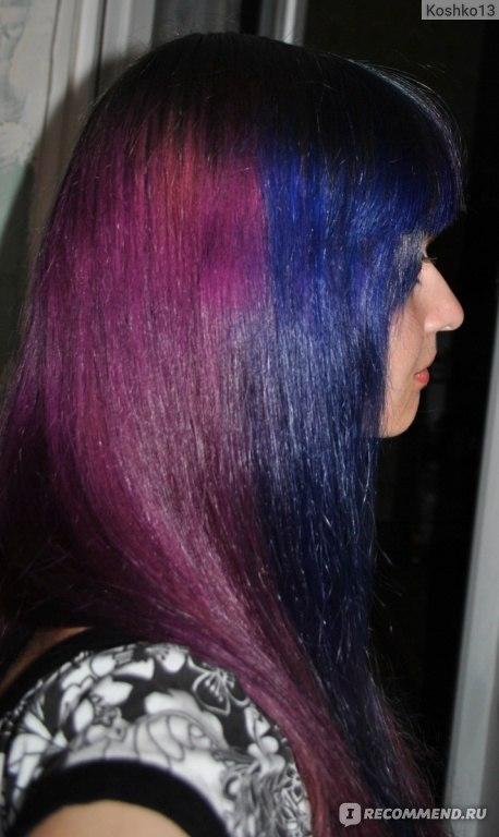 Осветленные волосы в черный цвет