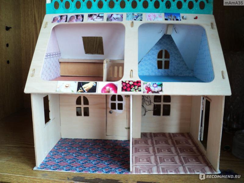 Как сделать из коробки кукольный домик 631