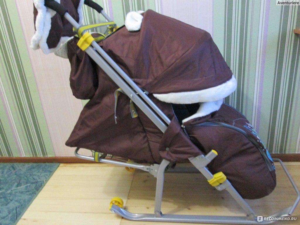 Как собираются санки коляска ника