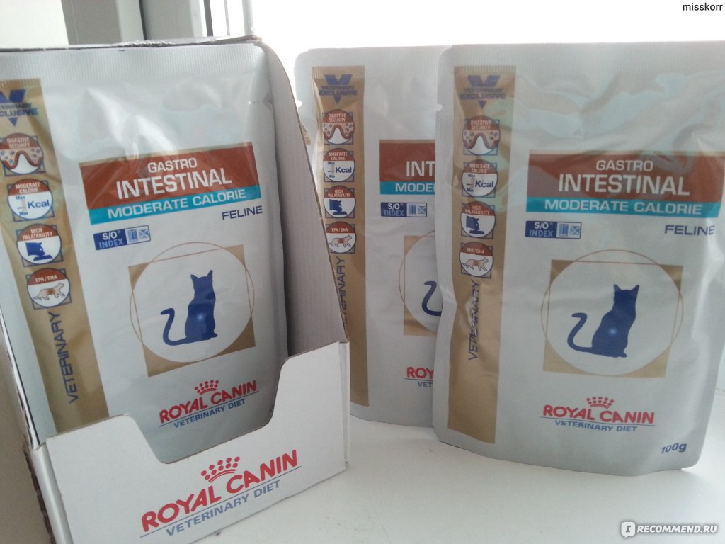 Корм royal canin gastro moderate calorie