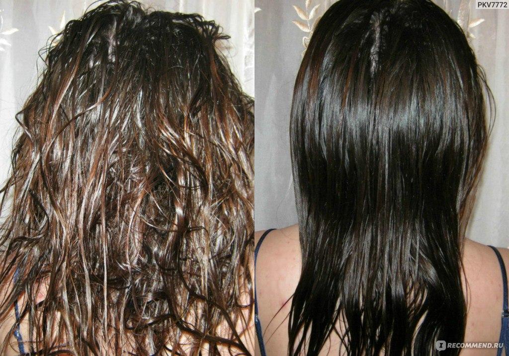 процесс кератинового выпрямления волос