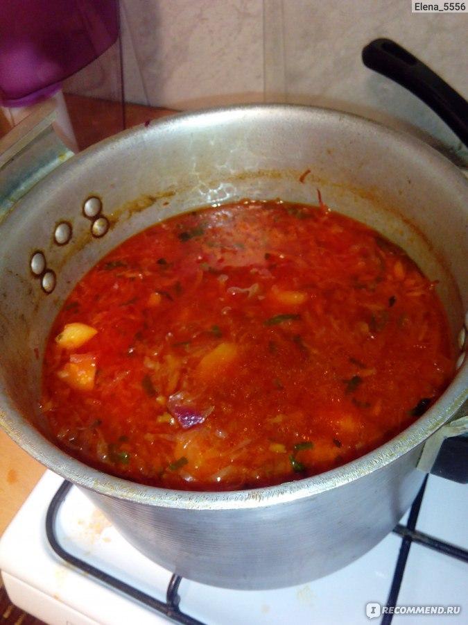 Рецепт борща без томатной пасты с пошагово