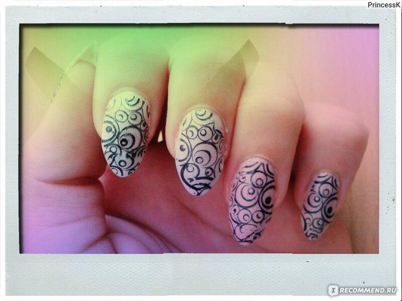 Рисунки на обычных ногтях
