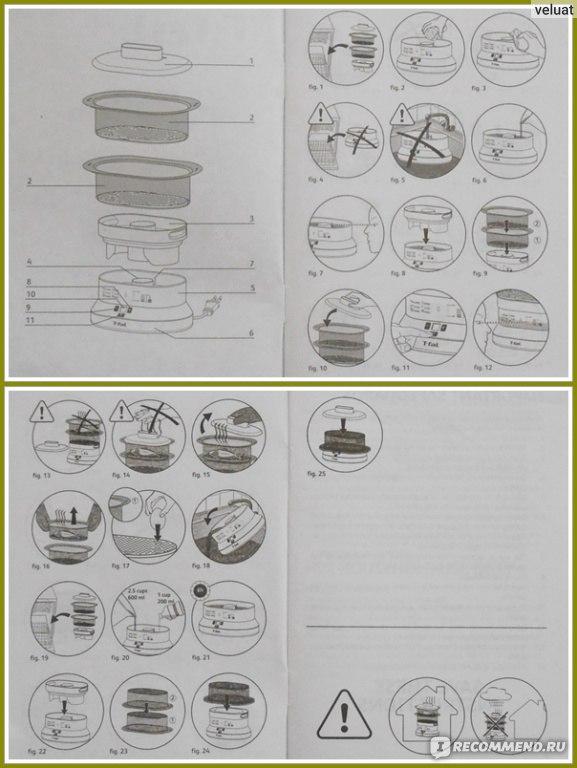 пароварка тефаль миникомпакт инструкция - фото 5