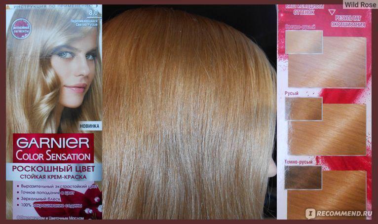 Гарньер краска средне русый цвет волос
