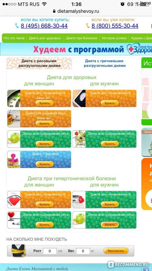 Диета Малышевой Info Ru