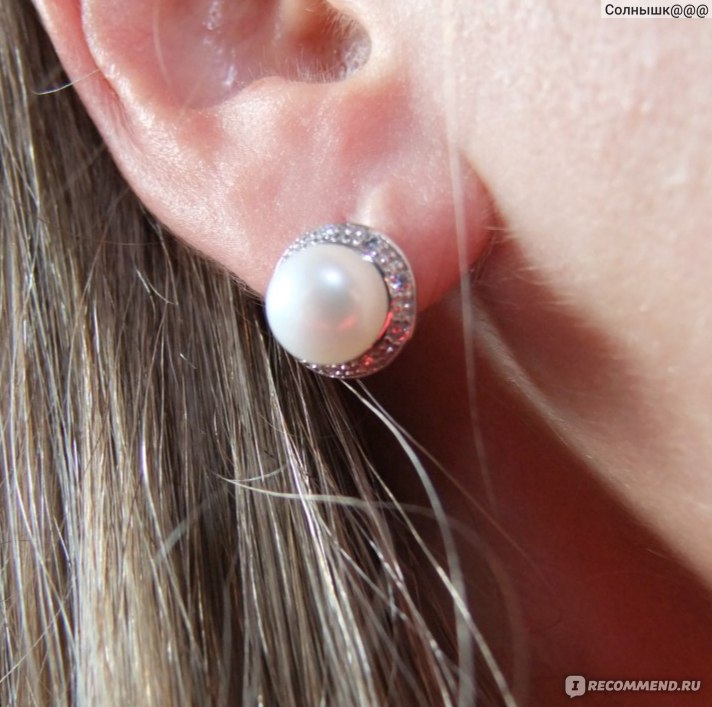 Ювелирные изделия Aliexpress FENNEY 100% natural Pearl earring, Pearl with  925 Sterling Silver earrings 02d63414e82