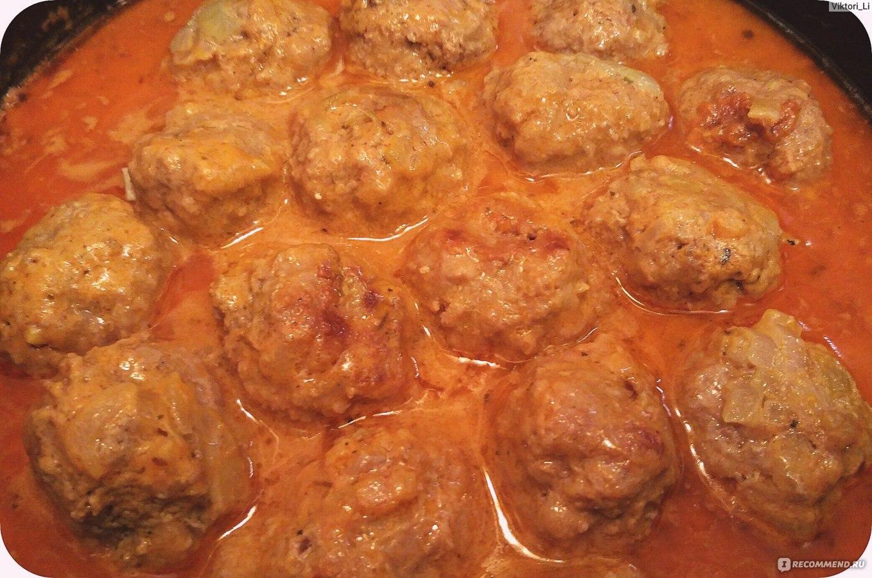 Тефтели тушеные в томатном соусе рецепт пошагово