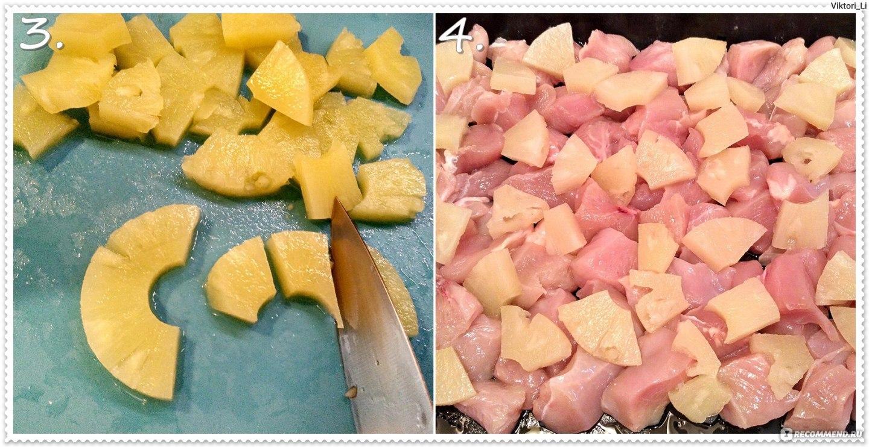 Куриные грудки с ананасами. пошаговый рецепт