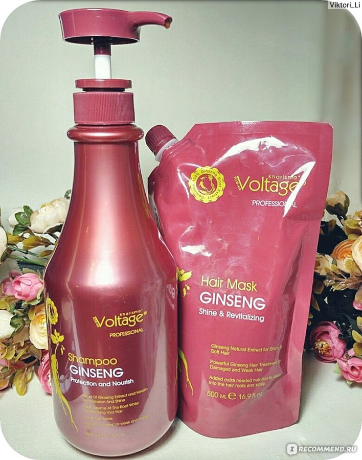 Отзывы шампунь для волос kharisma voltage ginseng защита и питание