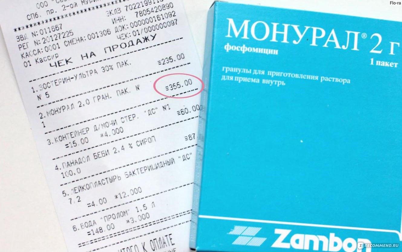 Анализ мочи после приема монурала бесплатные анализы крови в москве