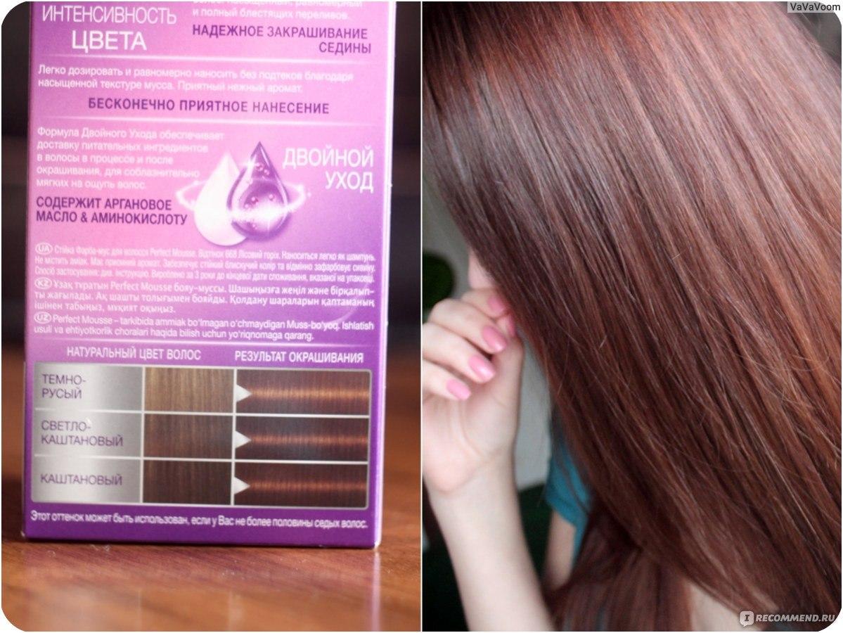 Краска-мусс для волос schwarzkopf темно русый отзывы