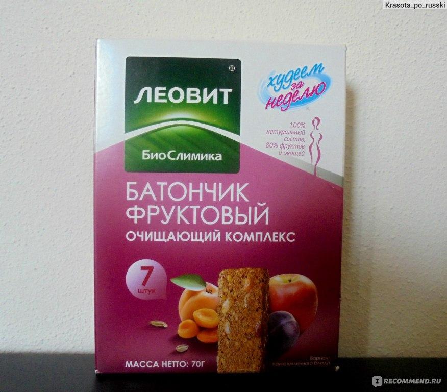 для фруктовый комплекс. похудения батончик очищающий