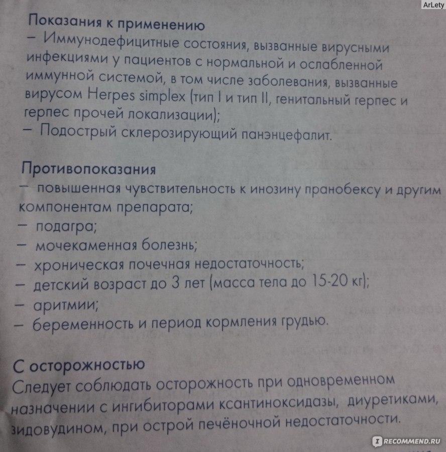 гроприносин инструкция таблетки