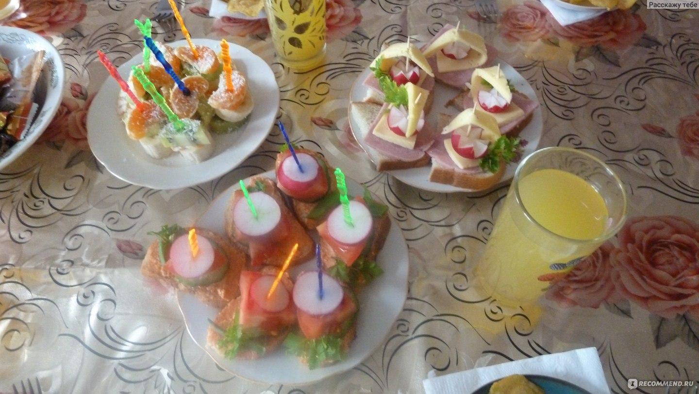 Холодные закуски на день рождения ребенка и рецептами