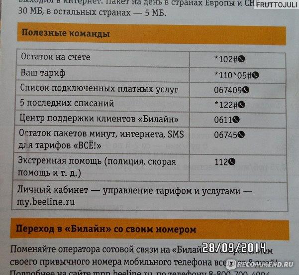 Тарифные планы Activ