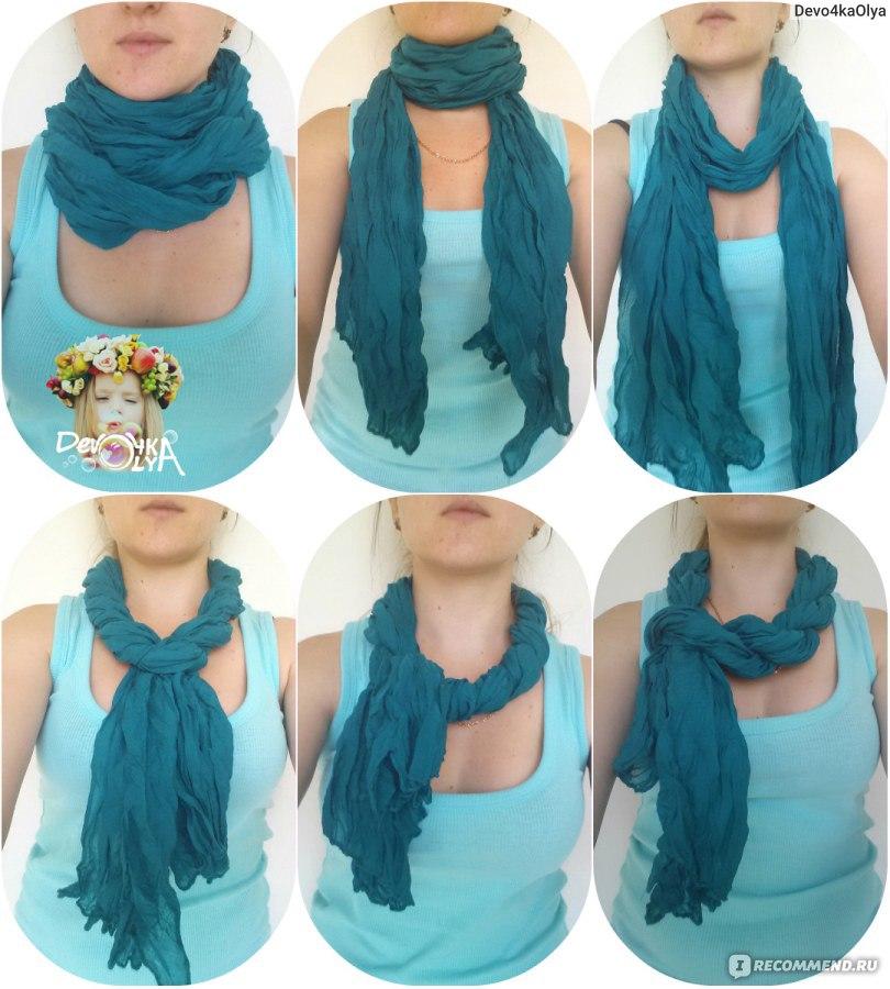 Как красиво завязать шарф на платье фото