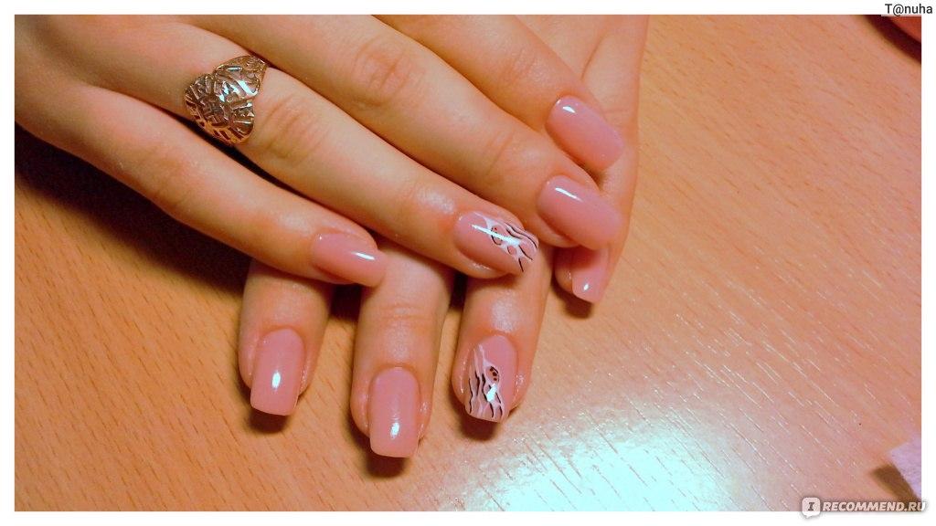 Дизайн гелевых прозрачных ногтей
