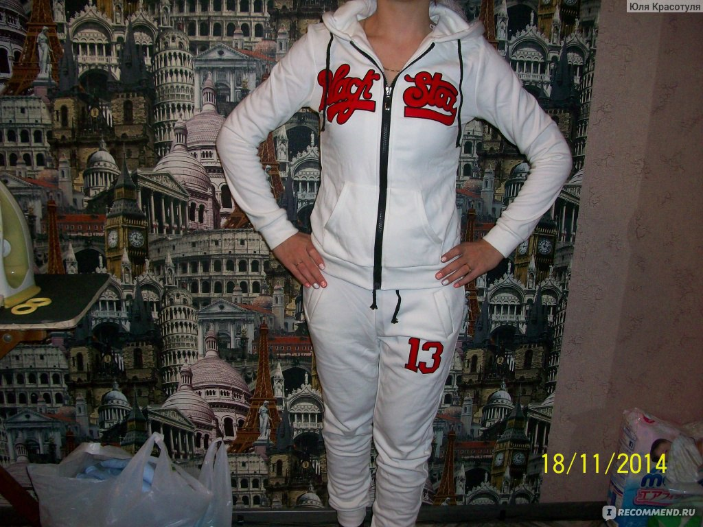 7b8c75a96214 Спортивный костюм AliExpress New Autumn Winter Large Size 2 Piece Sport  Suit Animal Sportswear Black Star
