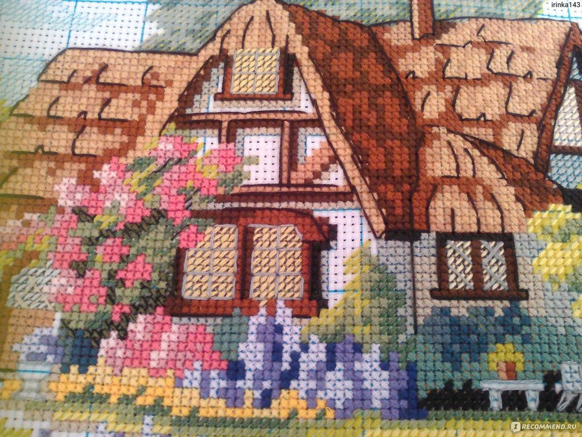 Вышивка крестиком дома домики 4