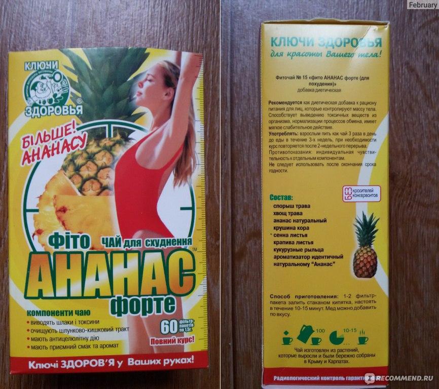 фито чай ананас для похудения побочные эффекты