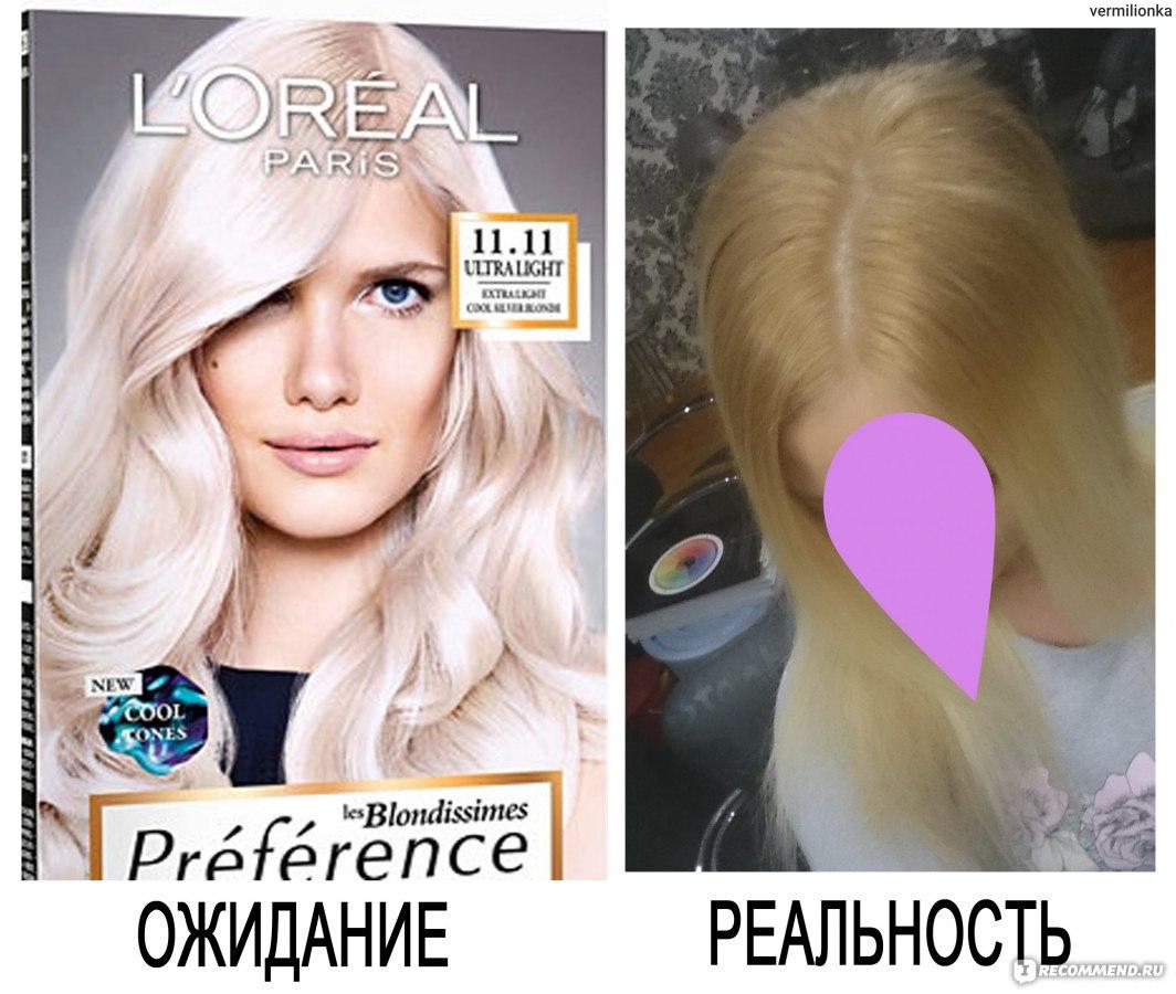 Лореаль блонд краска палитра цветов