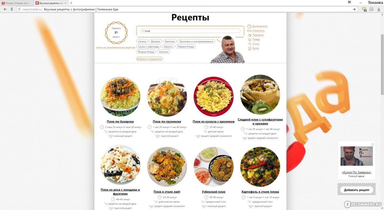 Лучшие сайты о еде