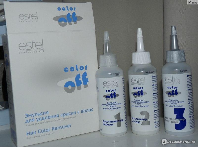 Инструкция по применению эмульсии для удаления краски с волос