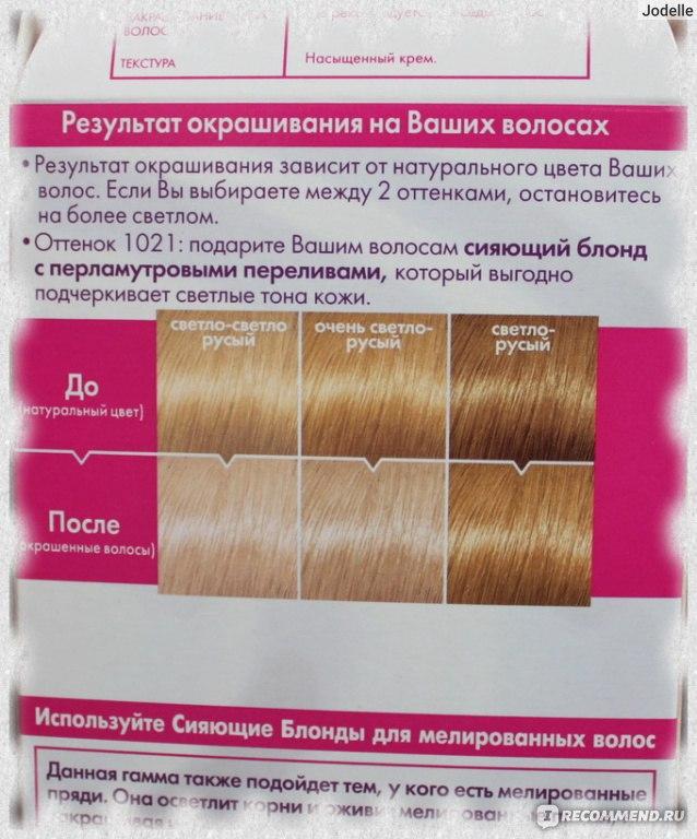 Краска для волос золотисто светло русый цвет