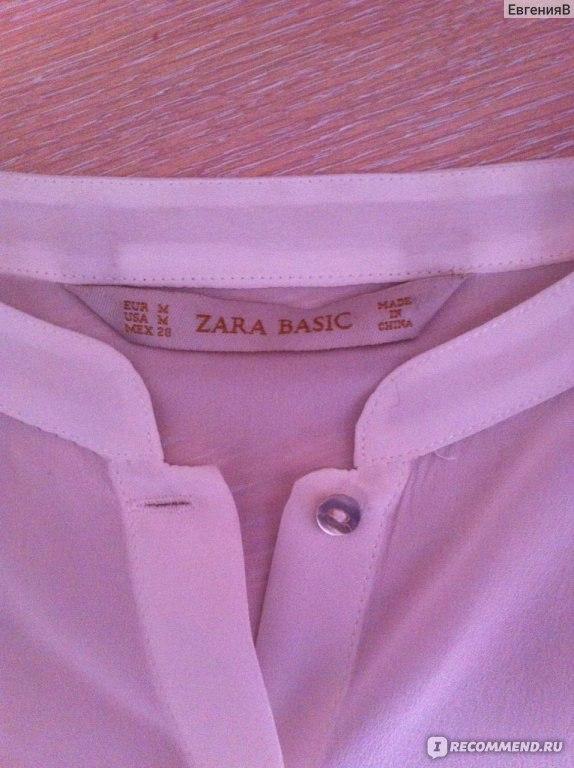 621017c9464 Блуза ZARA ИЗ ШЕЛКА С ВОРОТНИКОМ МАО код 0605 221 - «Шелковая блузка ...