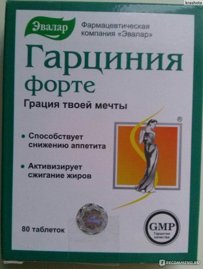 Таблетки для похудения гарциния форте