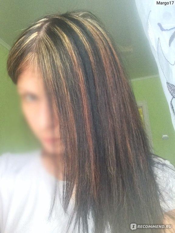 Чёрные крашеные волосы