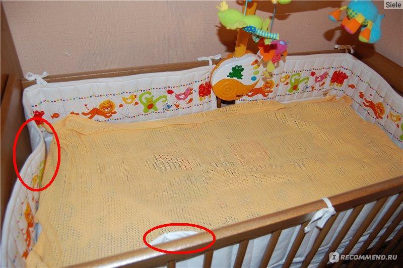 Как сшить своими руками бортик в кроватку для новорожденных