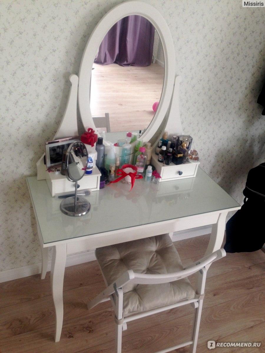 столик туалетный с зеркалом икеа серия хемнэс теперь я