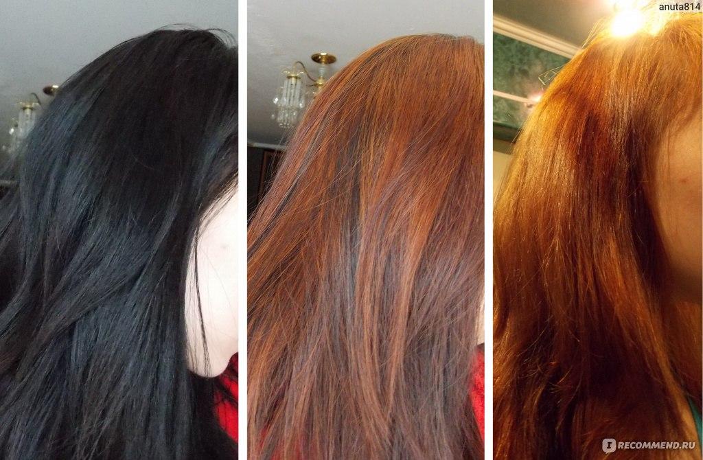 как осветлить темные волосы до рыжего цвета встал