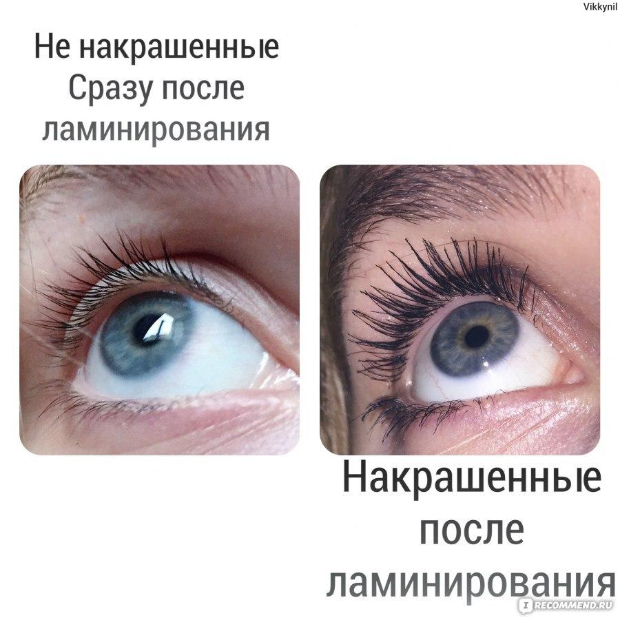 эффект ламинирования ресниц до и после фото